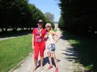 Під час екскурсії до Підгорецького замку (замок в кінці алеї)