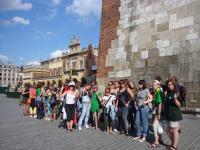 """На запрошення польських скаутів (харцерів) група дівчат-гайдів відвідала Краків 16-26 серпня 2008 року для участі у проекті """"Малопольша 2008"""""""