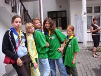 Girls staying in the hostel