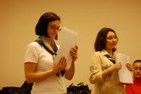 Тренінгову сесію про міжнародний рух проводять Anette Jappe та Анастасія Чіркова