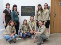 Наша група відвідала Всесвітній гайдівський центр Пакс Лодж, ми провели там церемонію посвяти в гайди