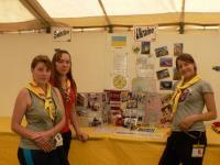 У міжнародному центрі ми підготували стенд про Україну